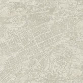 Albany Vintage Map Off White Wallpaper