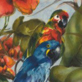 Albany Exotic Parrots Blue Multi-Colour Wallpaper