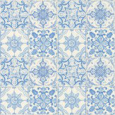 Albany Gothic Tile Blue Wallpaper