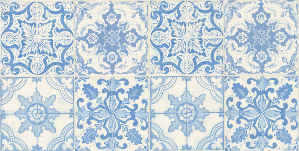 Albany Gothic Tile Blue Wallpaper Main Image