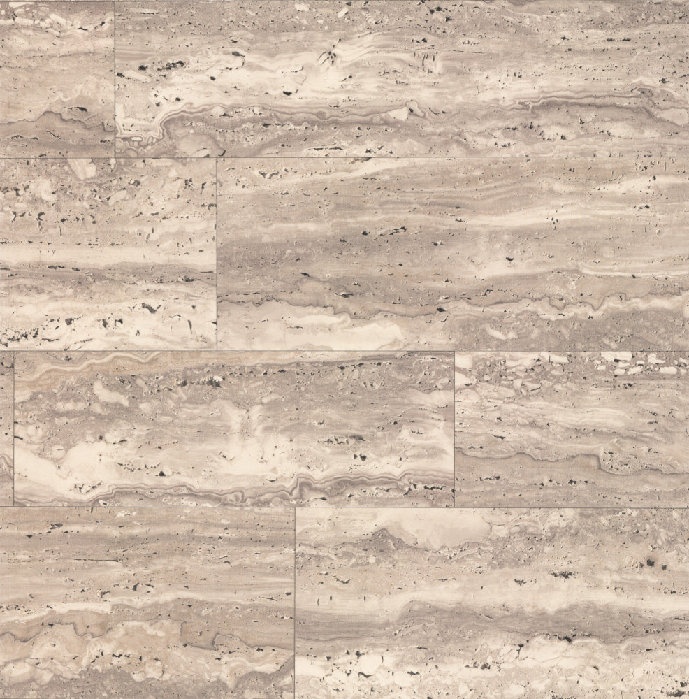 Albany Marble Tile Taupe Grey Wallpaper main image