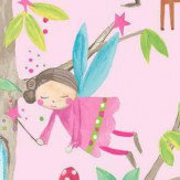 Arthouse Woodland Fairies Pink Wallpaper