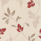 Albany Tropical Trail Red Wallpaper