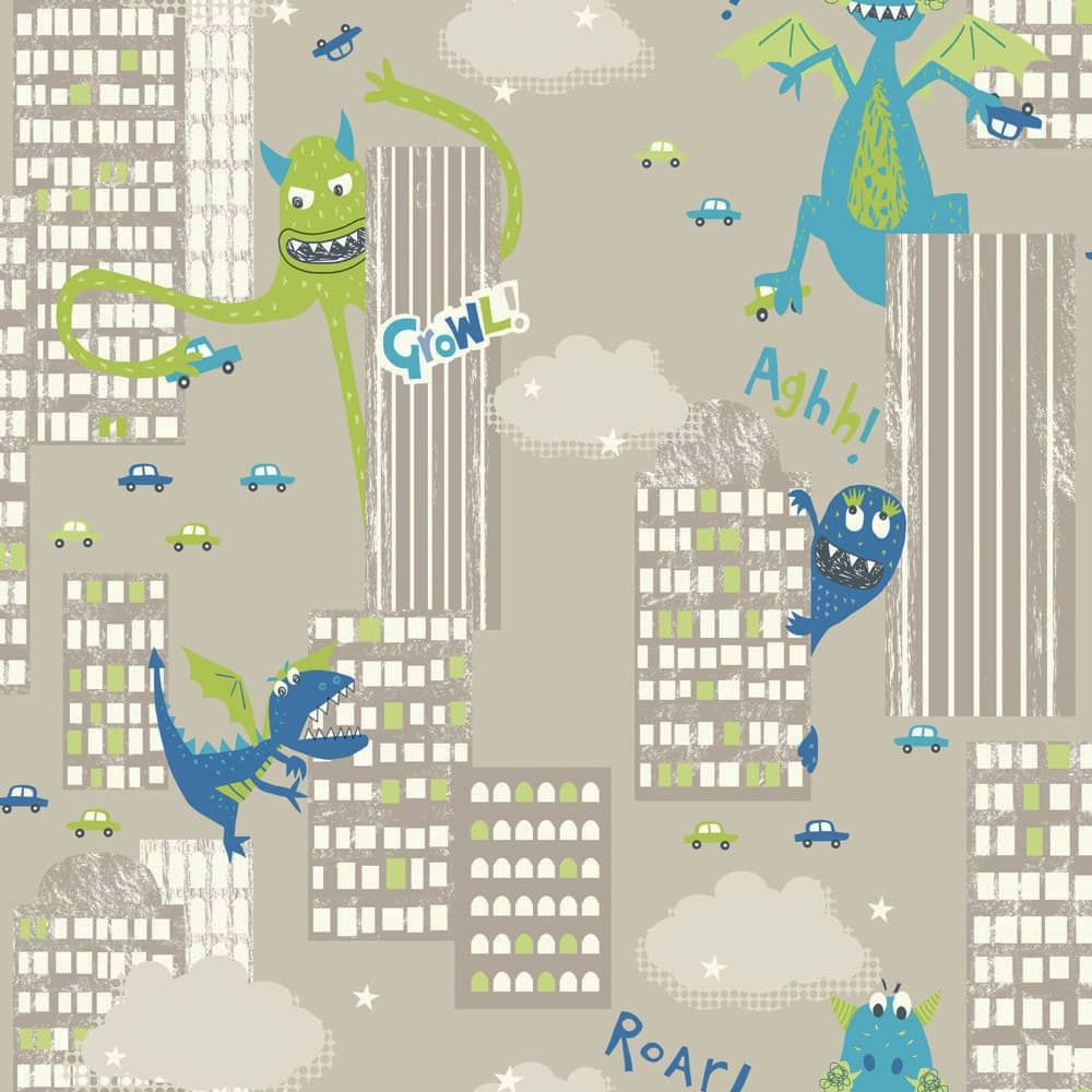 Arthouse Monster Madness Green Wallpaper - Product code: 667700
