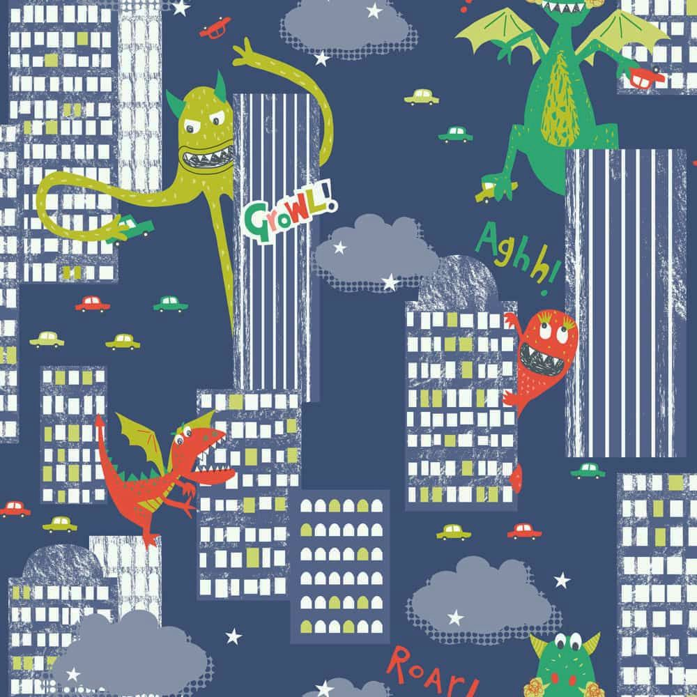 Arthouse Monster Madness Multi Wallpaper - Product code: 667701