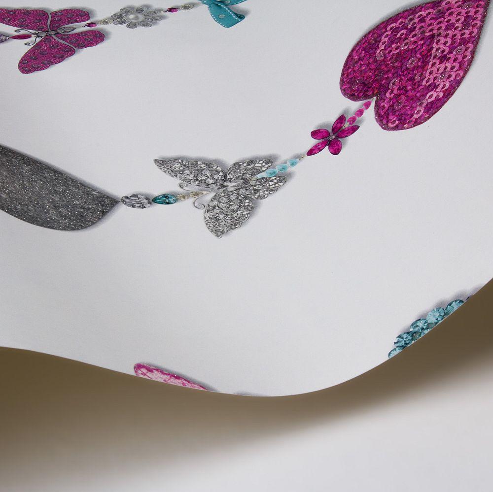 Arthouse Tiffany Stripe White Wallpaper - Product code: 667901