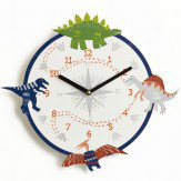 Arthouse Dino Doodles Clock Multi