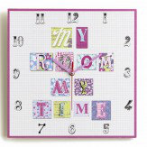Arthouse Patchwork Hearts Clock Multi - Product code: 008313