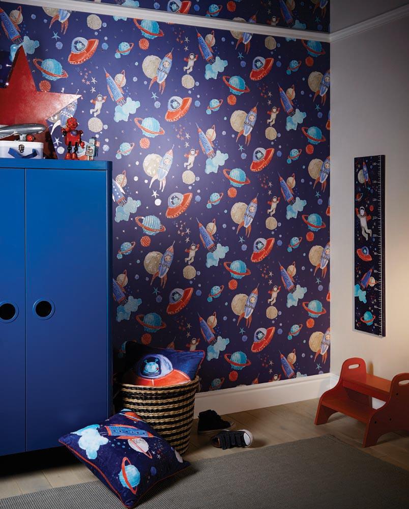 Starship Cushion - Multi - by Arthouse