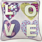 Arthouse Patchwork Hearts Cushion Multi - Product code: 008305
