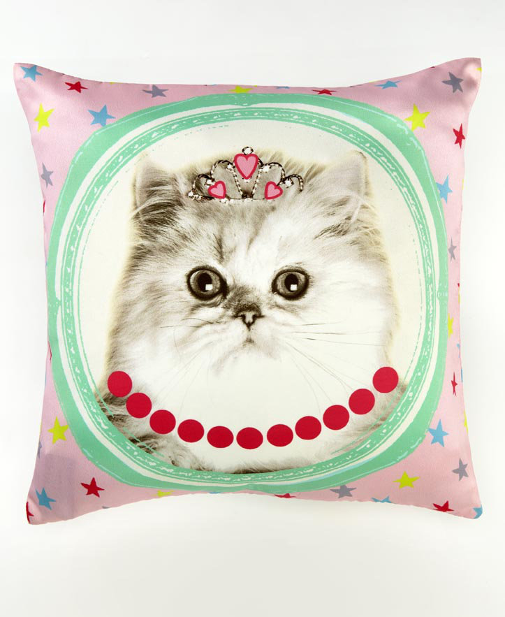 Hall of Fame Cushion Cat - Multi - by Arthouse