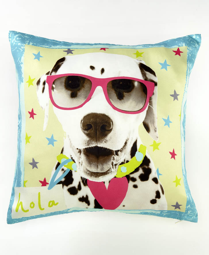 Hall of Fame Dog Cushion - Multi - by Arthouse