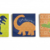 Arthouse Dino Doodles Set of 3 Canvas Multi Art