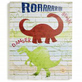 Arthouse Dino Doodles Canvas with Sound Function Multi Art