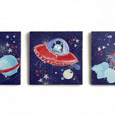 Arthouse Starship Set of 3 Canvas Multi Art