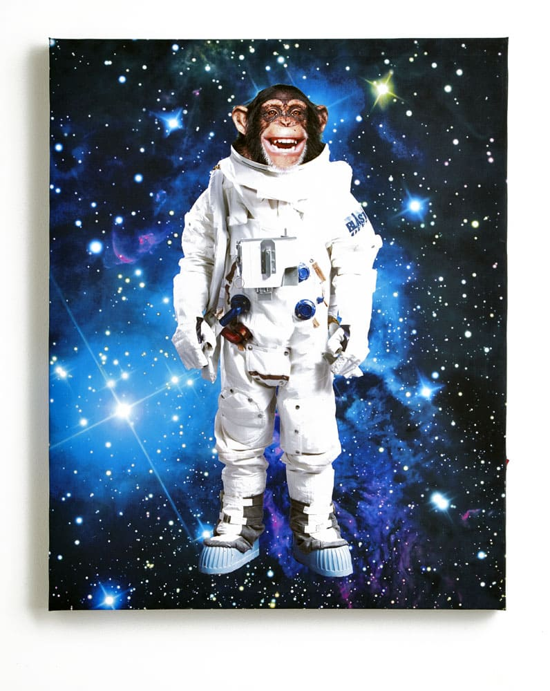 Space Monkey Light Up Canvas By Arthouse Multi