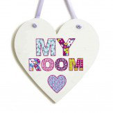 Arthouse Patchwork Heart Door Sign Multi - Product code: 004160