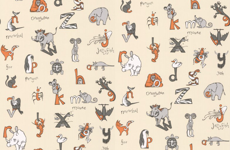 Image of Kerry Caffyn Wallpapers Animal Alphabet, KC2011