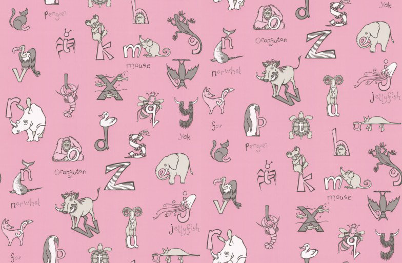 Image of Kerry Caffyn Wallpapers Animal Alphabet, KC2012