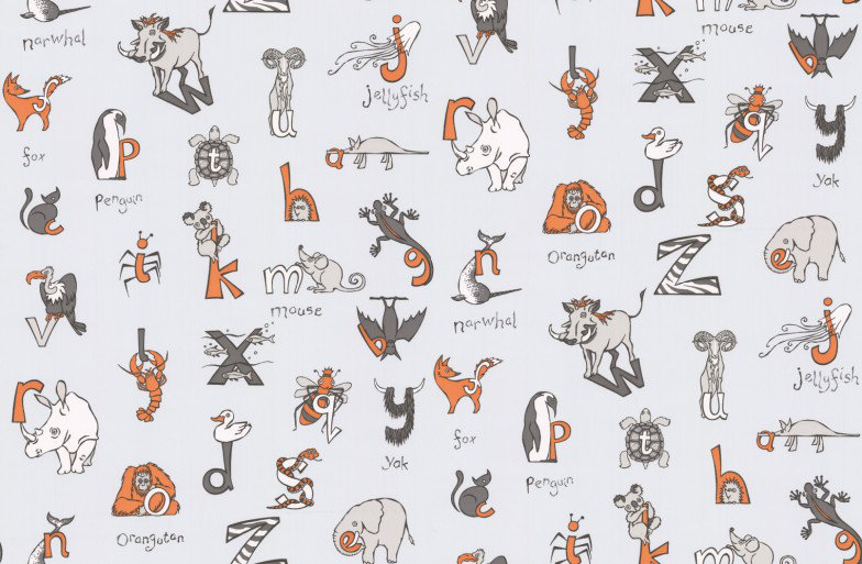 Image of Kerry Caffyn Wallpapers Animal Alphabet, KC2013