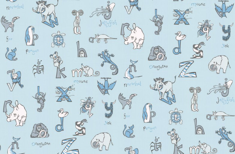 Image of Kerry Caffyn Wallpapers Animal Alphabet, KC2014