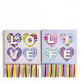 Arthouse Patchwork Heart Set of 2 Canvas Multi - Product code: 004161