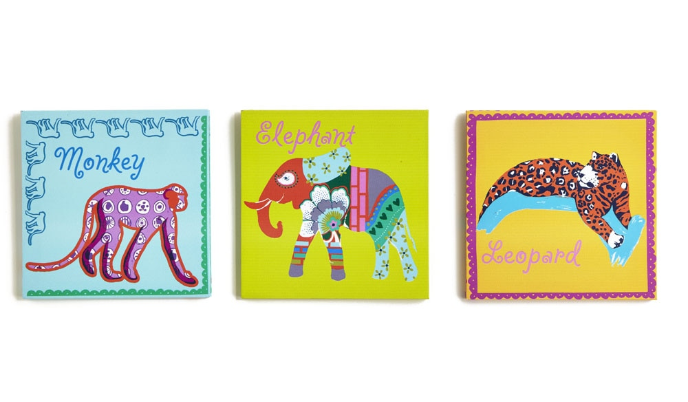 Arthouse Jungle Animals Set of 3 Canvas Multi Art - Product code: 004164