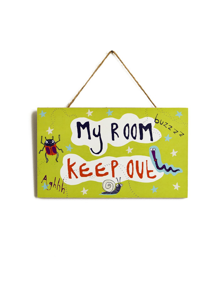 Arthouse Dont Bug Me Door Sign Lime Green Art - Product code: 004166