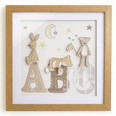Arthouse Bear Hugs Filled Frame Beige Art - Product code: 004170
