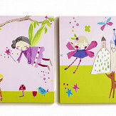 Arthouse Woodland Fairies Set of 2 Canvas Multi Art