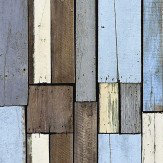 Galerie Distressed Wood Blue Wallpaper