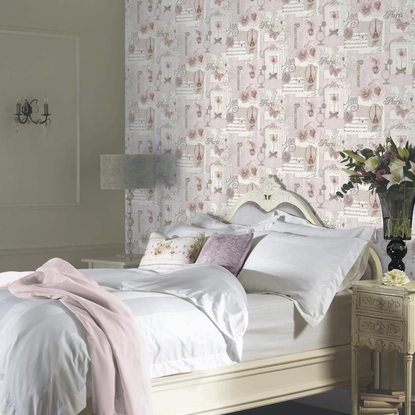 Felicity Wallpaper - Soft Pink - by Arthouse