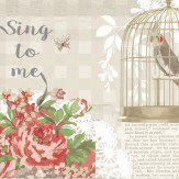 Arthouse Sing To Me Red Wallpaper