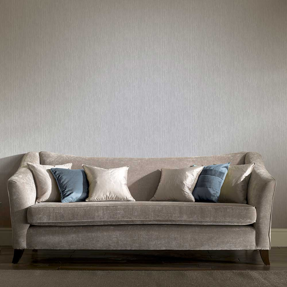 Raffia Wallpaper - Silver - by Arthouse