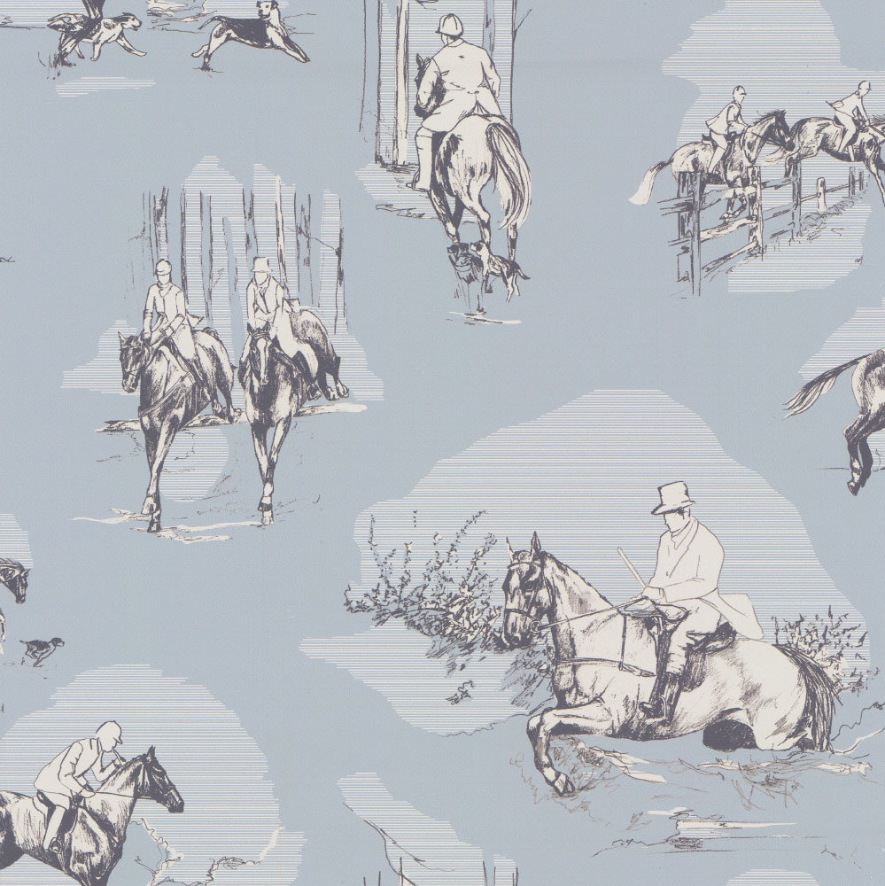 Graduate Collection Saddle Up Duck Egg Wallpaper - Product code: EW1SUWALDUC