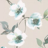 Galerie Anemone Blue Wallpaper