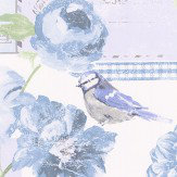 Galerie Postcard Florals Blue  Wallpaper - Product code: S45203