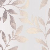 Galerie Ombre Leaves Pale Duck Egg & Grey Wallpaper