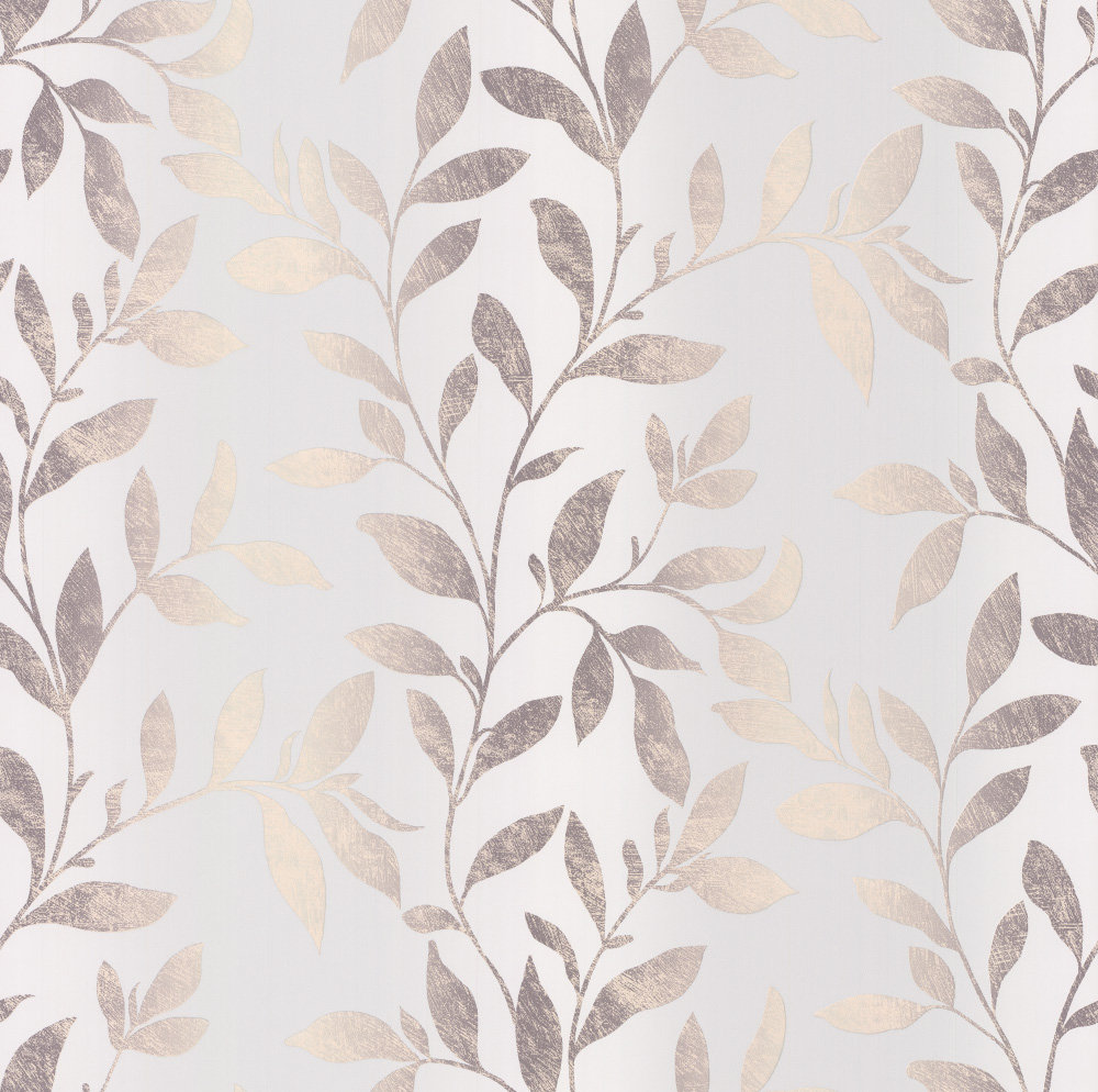 Galerie Ombre Leaves Pale Duck Egg & Grey Wallpaper - Product code: S45213