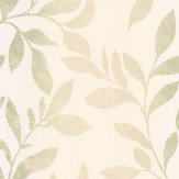 Galerie Ombre Leaves Cream & Green Wallpaper
