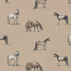 Clarke & Clarke Chevaux Linen Fabric