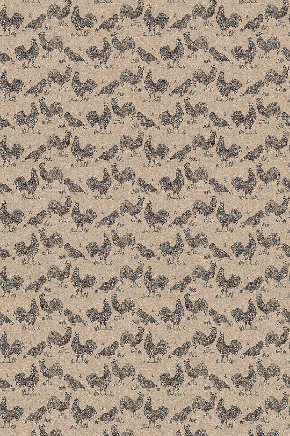 Image of Clarke & Clarke Fabric Chickens, F0765/01