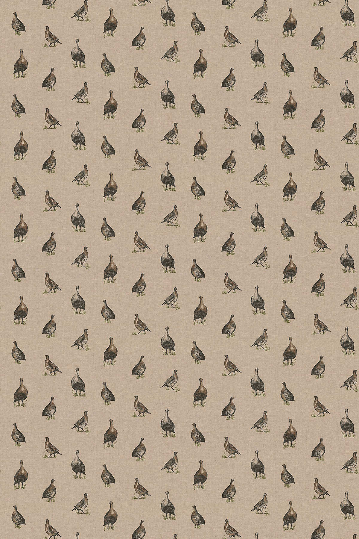 Image of Clarke & Clarke Fabric Gamebirds, F0768/01