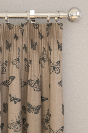 Clarke & Clarke Mariposa Noir Curtains - Product code: F0771/02