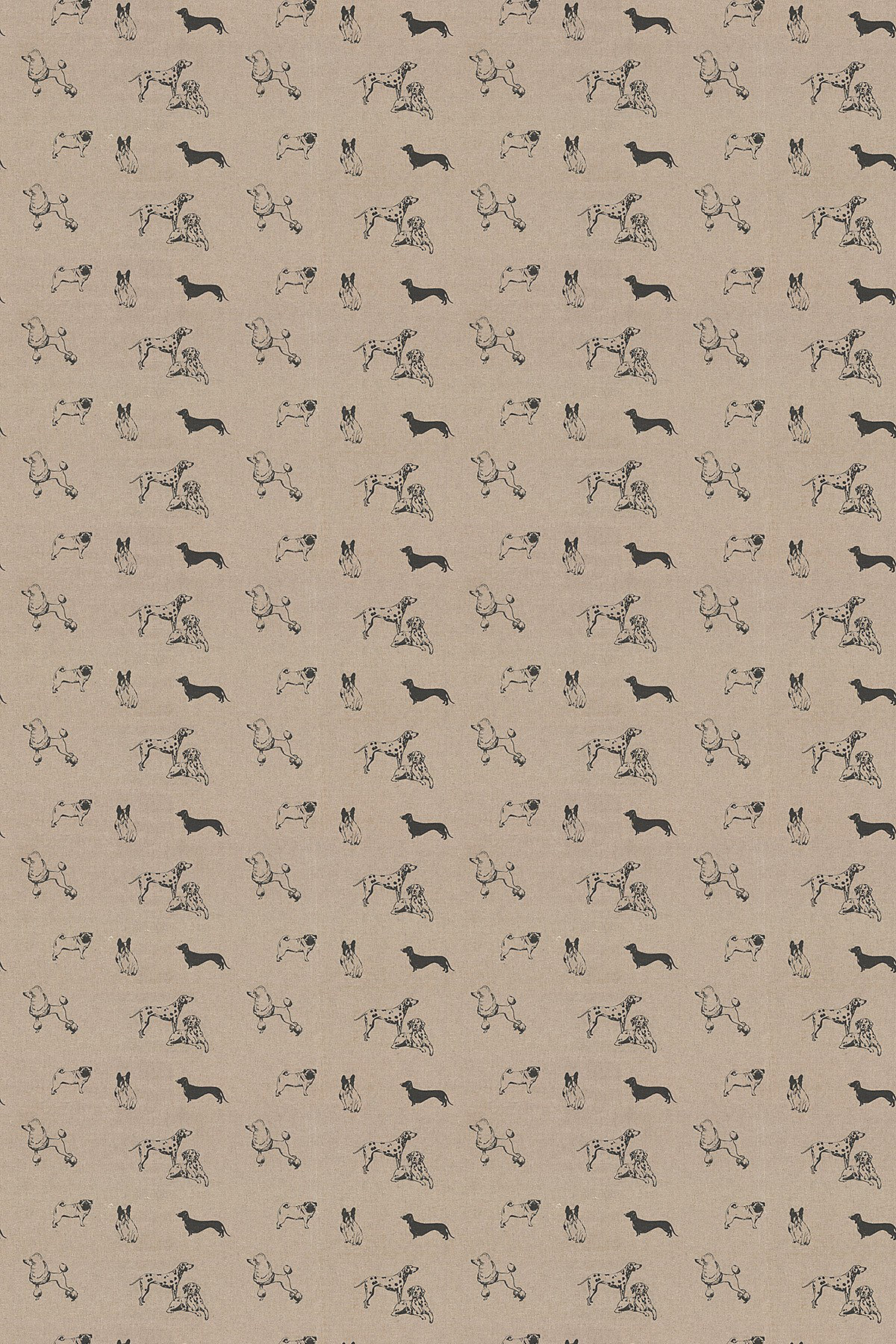 Image of Clarke & Clarke Fabric Pooches, F0773/01