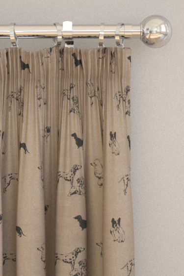 Clarke & Clarke Pooches Noir Curtains