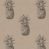 Clarke & Clarke Ananas Noir Fabric