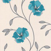 Albany Floral Trail Kingfisher Wallpaper