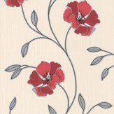 Albany Floral Trail Red Wallpaper