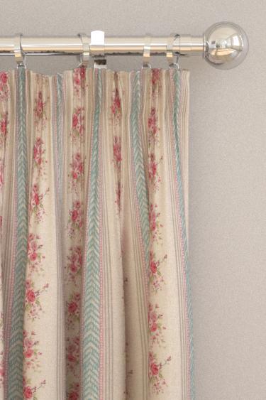 Clarke & Clarke Lala Aqua Curtains
